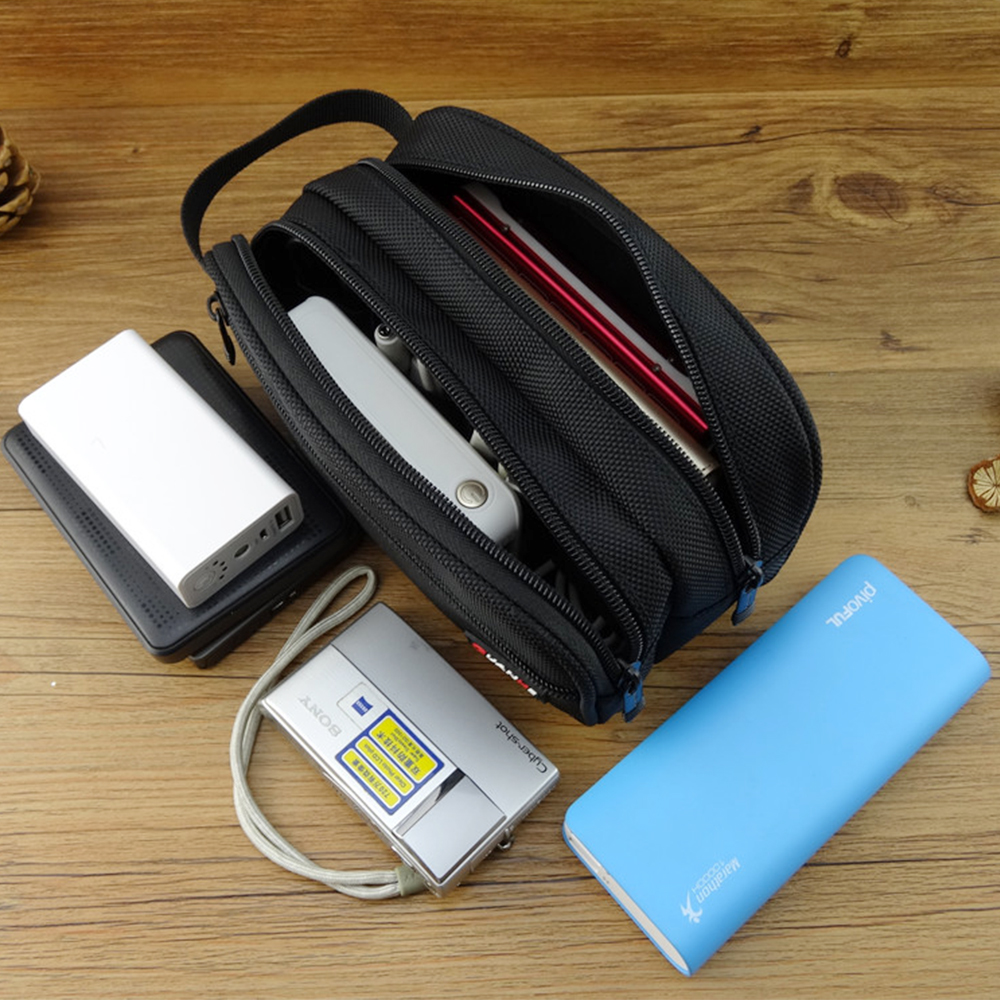 2019 New Big Capacity Power Bank Case Hard Case Box for 2.5 Hard Drive Disk USB Cable External Storage Carrying SSD HDD Case Bag