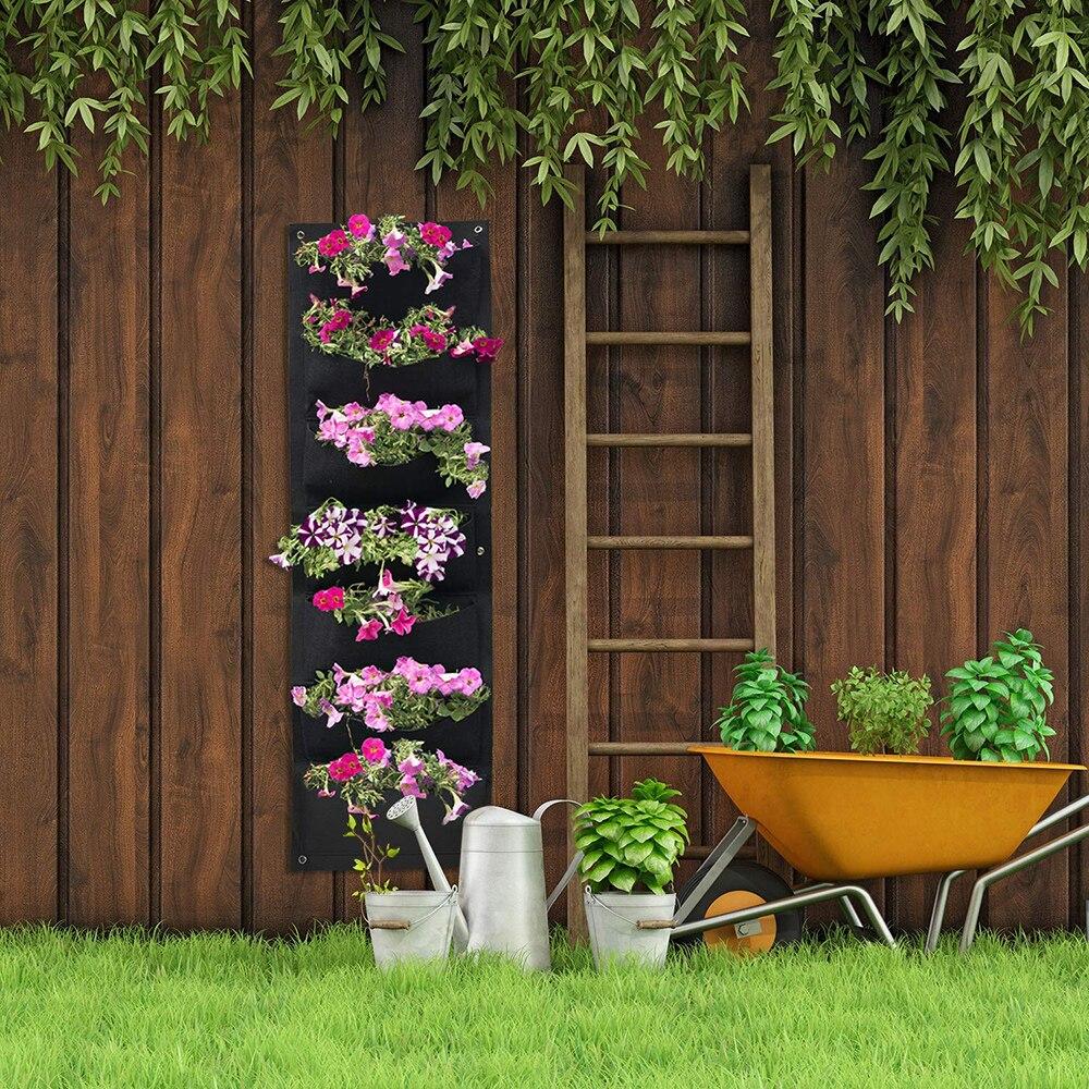 100*30cm Vertical jardin planteur mural plantation fleur cultiver sac 7 poche légumes vivant jardin sac maison fournitures D30