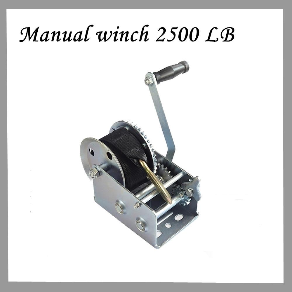 Manual Winch 2500 LB Winch Galvanized Nylon Rope Winch