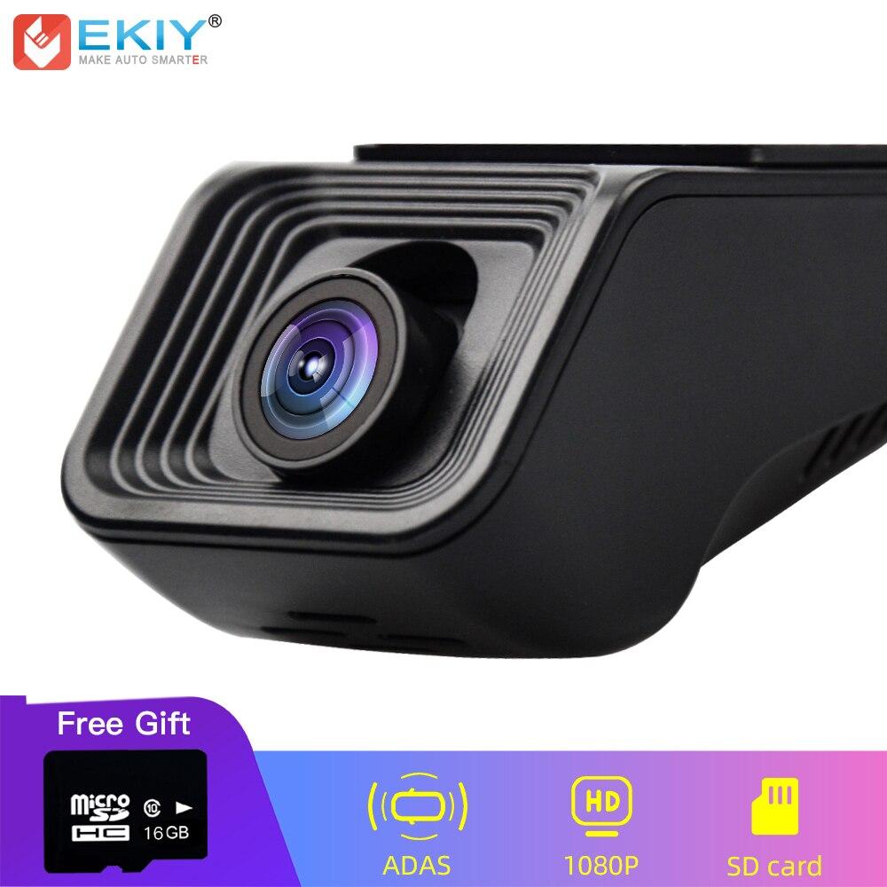 EKIY USB ADAS Car DVR Dash Cam Full HD 1080P Universal For Android Car DVD Player Navigation System Free Shipping