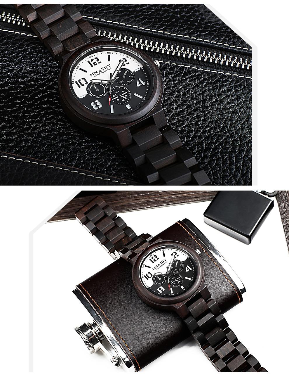 H5475774bd70b45dc99cd716e78ef0e951 Hnatuy Wood Men's Watches Luminous Hands Business Watch