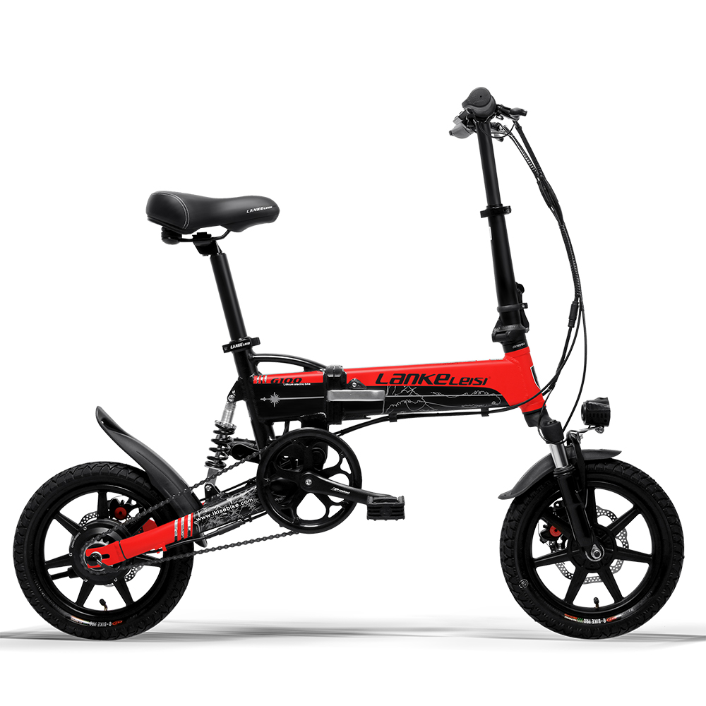 Cyrusher Mini fällbar elcykel 400W 36V 8,7AH skivbromsar 14 tums - Cykling