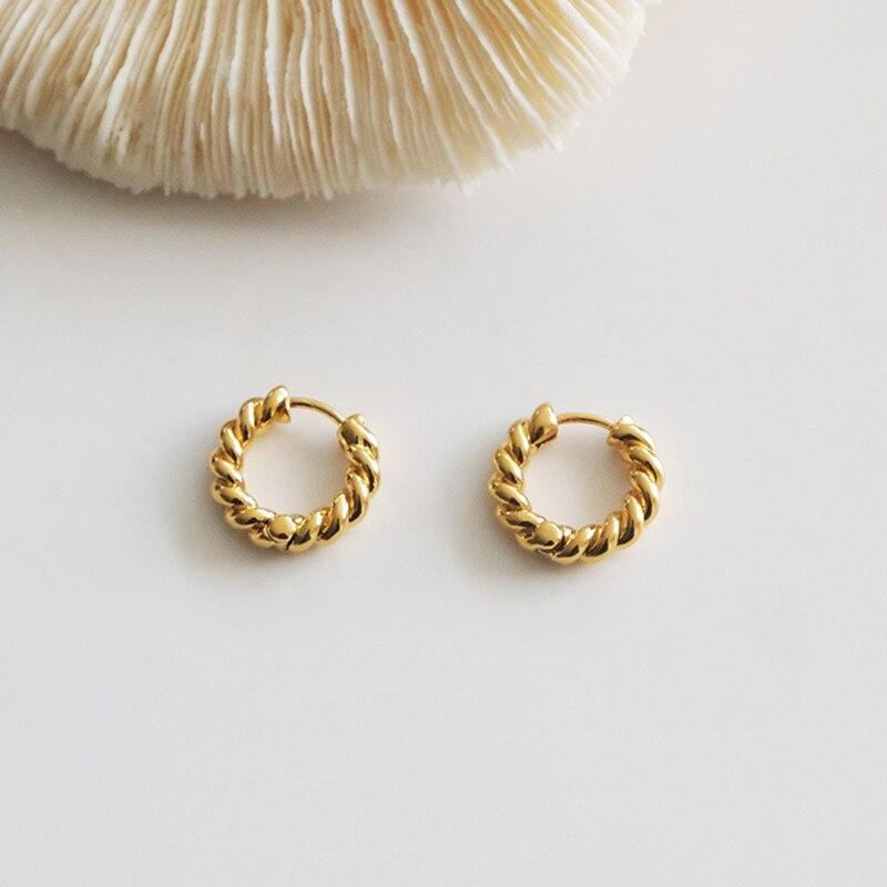 Tiny Twisted Hoop Earrings