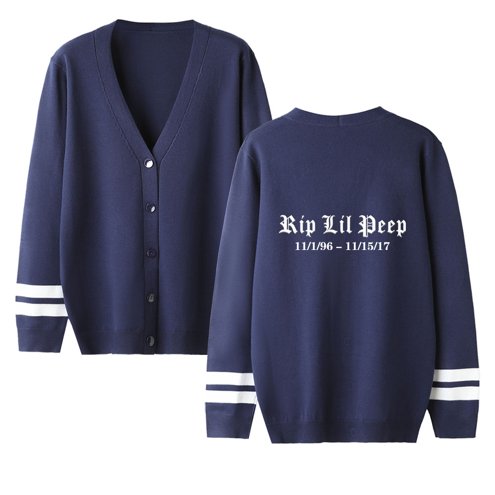 Autumn New Women Cardigan Sweater Lil Peep Print Sweater Casual V-neck Long Sleeve Knitted Sweater Unisex High Quality Sweater