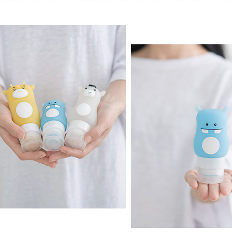High 50/70/90ml Portable Empty Bottle Silicone Travel Packing Press Bottles Lotion Shampoo Bath Container KTC 66