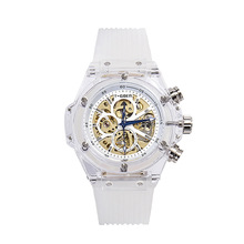 Transparent shell fashion transparent automatic hollow calendar men and women students waterproof co