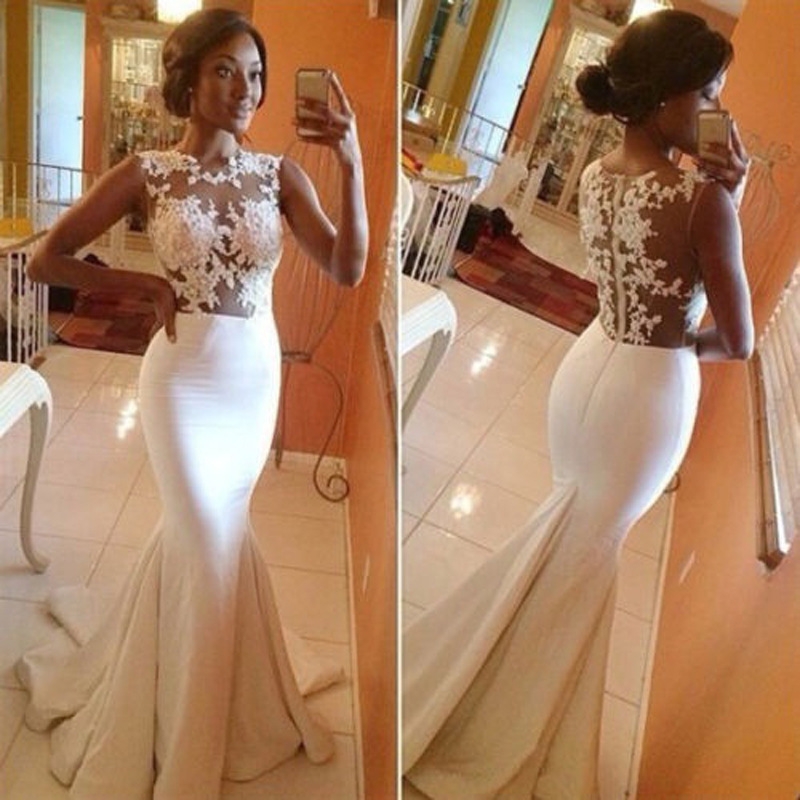 2019 Hot Selling European And American-Style Perspective Sexy Evening Dress Mermaid Evening Gown Dress
