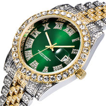 Unique Watch Men Luxury Brand Trending Men Calendar Watch Quartz Waterproof Hip Hop Male Clock Diamond Steel Iced Out Watches