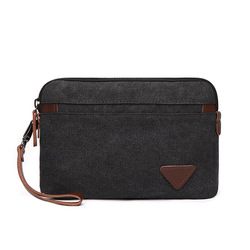 2021 New Man Canvas Bag Top Quality Men's Wallet Coin Purse Multi-function Male Handbag Mobile Phone Bag Large Capacity Clutches