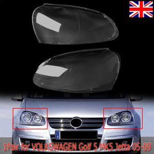 MagicKit UK Stock 2x для VW Volkswagen Golf5 MK5 05-09 передняя крышка объектива Комплект фар левая + правая 1K6941006S 1K6941005S