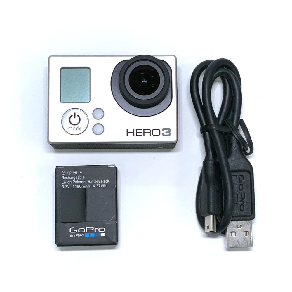 Battery Camera Charging-Data-Cable Silver-Edition Gopro Hero3 for 95%New Adventure Adventure