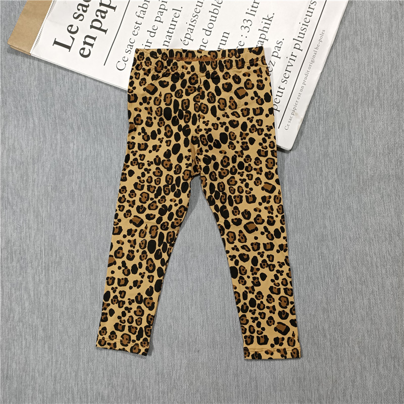 Spring and Summer 2021 new boys and girls Leopard print t-shirt dress leggings hoodie jacket 4
