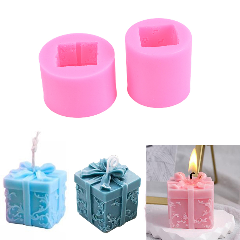 Candle Mould Silicone Candle Mould DIY Christmas Box Soap Aroma Mold 3D Soap Mould Craft Resin Molds Decorating Tool Crafts Moul