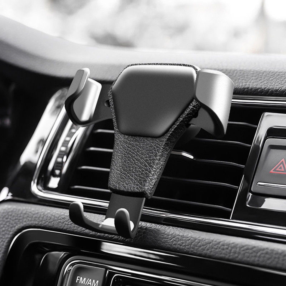 KSTUCNE Gravity Reaction Car Mobile Phone Holder Clip Type Air Vent Monut GPS Car Phone Holder For IPhone 8 7 6s Plus Samsung S6