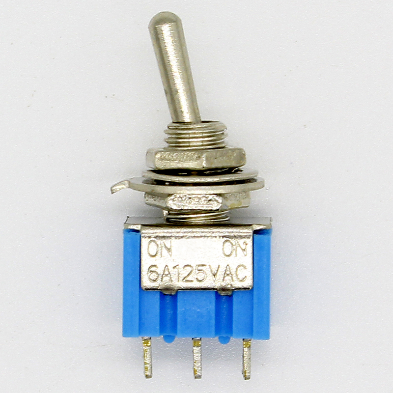 10pc/LOT Blue Mini MTS-102 3-Pin SPDT ON-ON 6A 125VAC Miniature Toggle Switches