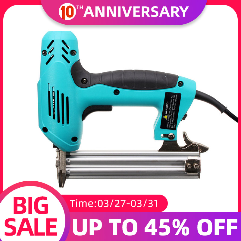 Drillpro Electric Straight Nail Gun 10-30mm 220V 2000W Heavy-Duty Woodworking Tool High Power Electrical Staple Nail