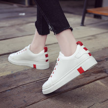 New Women Sneakers Breathble Vulcanized Shoes Pu Leather Platform Lace up Casual White Tenis Feminino Zapatos De Mujer(China)
