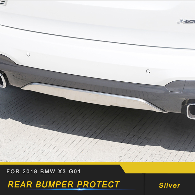 For 2018 2019 <font><b>BMW</b></font> <font><b>X3</b></font> <font><b>G01</b></font> Car Styling Rear Bumper Fender <font><b>Protector</b></font> Cover Trim Frame Sticker Exterior Accessories image