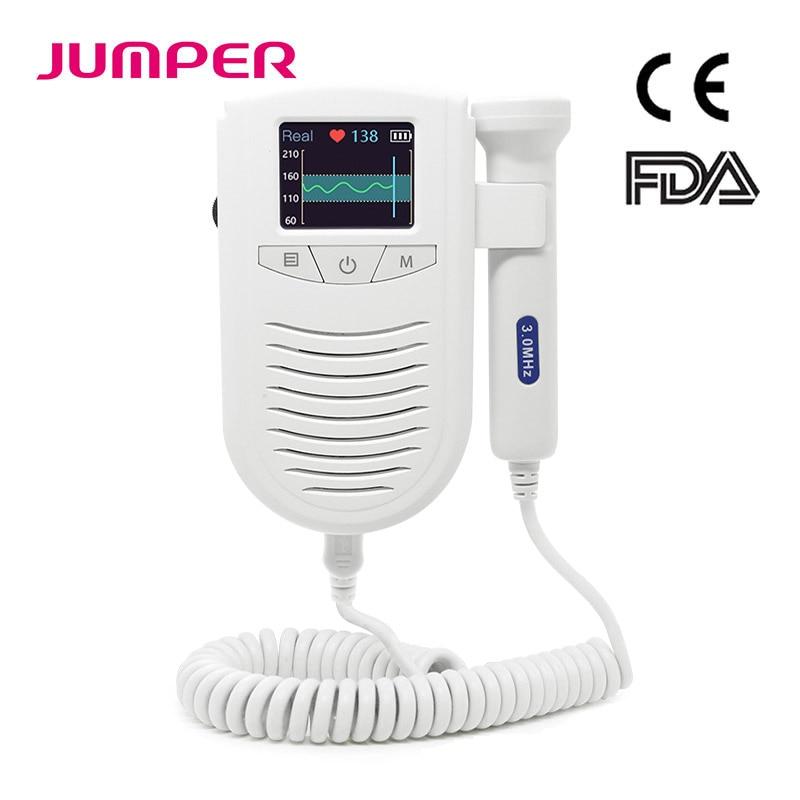Fetal Doppler Detector Pocket Portable Household Pregnant Baby Ultrasound Heartbeat Sound Monitor No Radiation 3.0MHz Probe(China)