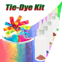 5pcs/set One-step Tie Dye Kit Diy Kits For Fabric Textile Craft Arts Clothes For Solo Projects Dyes Paint And Family Mica Powder