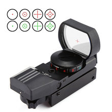 Mira telescópica para Rifle de caza, visor de punto rojo de 11mm/20mm, óptica reflejo, Airsoft, francotirador táctico