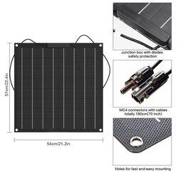 Czarny 50w elastyczny panel słoneczny wykonane z 50w ETFE  podróże na zewnątrz wytwarzania energii