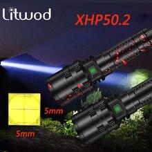 Litwod 3800 루멘 손전등 LED 라이트 강력한 사냥 라이트 전술 충전식 방수 스카우트 토치 5 모드 18650/26650
