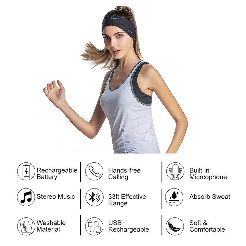 Bluetooth повязка наушники музыка спортивные Напульсники для Для мужчин и Для женщин Для мужчин Sleephone с стерео Динамик для занятий спортом на от...