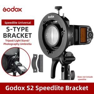 Image 1 - Godox S2 Bowens Mount Flash S tipo di Supporto Della Staffa per Godox V1 V860II AD200 AD400PRO Speedlite Flash Snoot Softbox