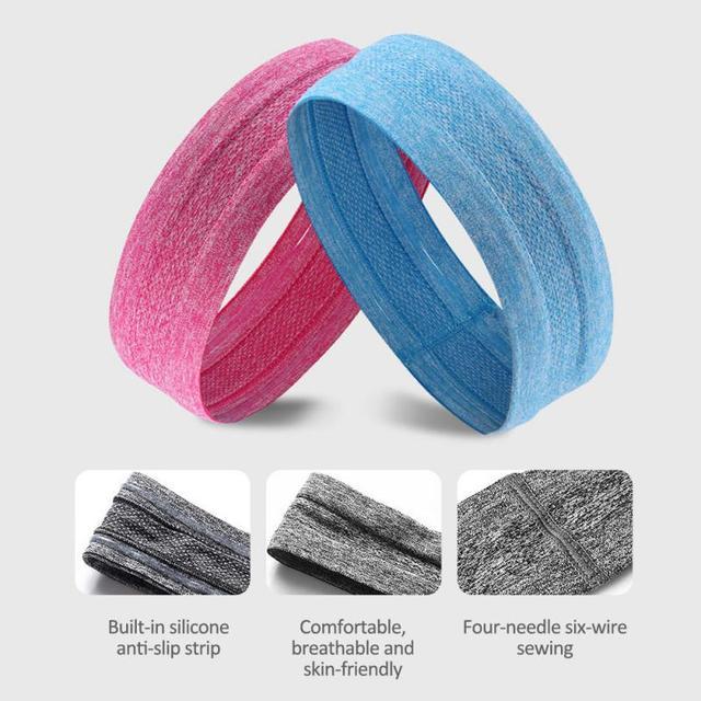 Fitness yoga hair bands jogging running sports sweat-absorbent belt silicone non-slip antiperspirant headband sports scarf belts 5