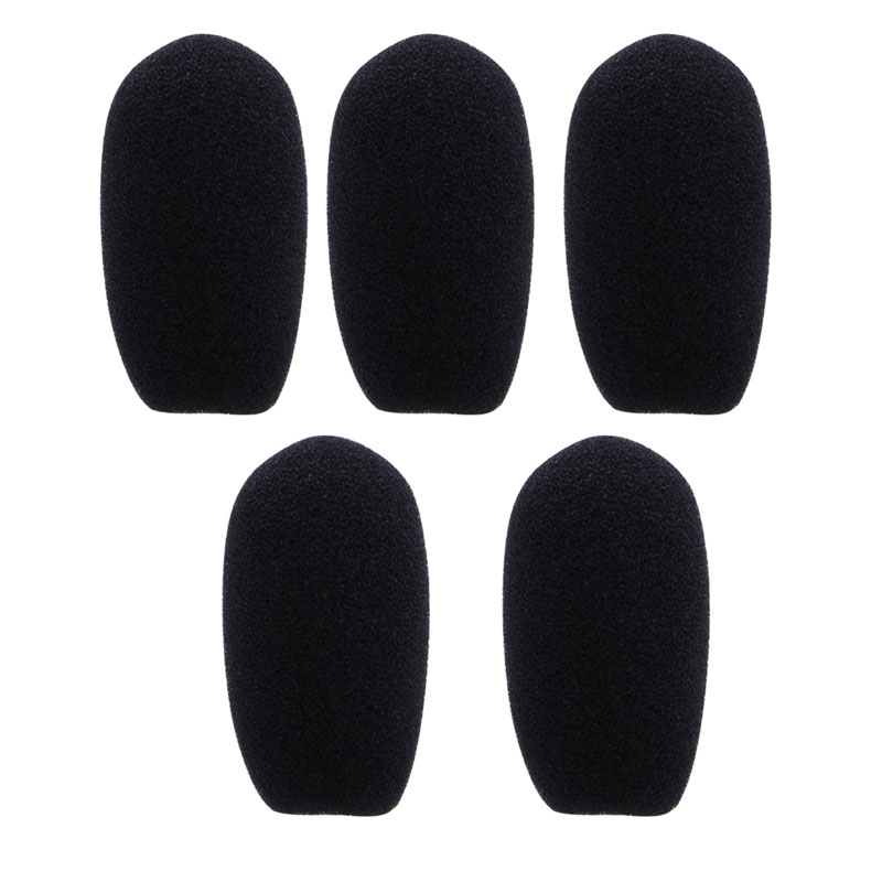 5PCS Black Microphone Headset Foam Sponge Windscreen Mic Cover 5 Sizes