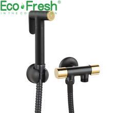 Ecofresh медный Ручной смеситель для биде набор распылитель