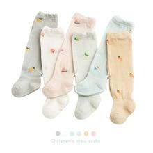 2021 Summer Thin Newborn Baby Socks Mesh Cotton Knee High Baby Girls Sock Toddler Fruit Baby Boys Socks Casual Socks for Girls