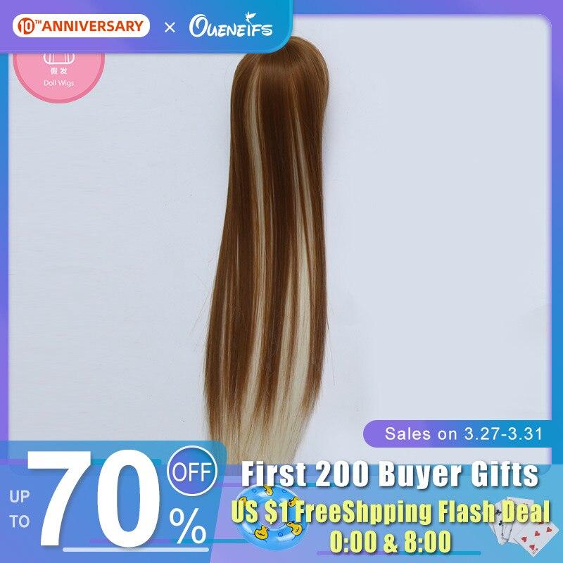 Wig For Teenie Gem Trond&Kivi Elves Lux & VoloBJD Doll Free Shipping Bjd Wig 7-8 Inch 1/4 Bella Girl Doll With Bangs Fashionhair