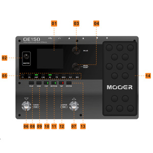 Image 3 - MOOER GE150 newest entry in the GE line of multi effects pedal 55 High quality amp models and 151 different effects