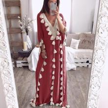 Women's Summer Dress Bohemia Long Dress Ethnic Style Tassel Beach Summer Holiday