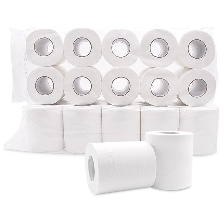 100 Rolls  White Toilet Tissue Hollow Replacement Roll Paper Clean Prevent Flu Dinner Table Napkins 4 Ply Paper Towels Wholesale