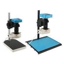 2K 38MP HDMI Fotocamera Microscopio Digitale 100X 1080P USB Fotocamera Microscopio Elettronico Per PCB CPU Saldatura di Riparazione di Laboratorio ispezione