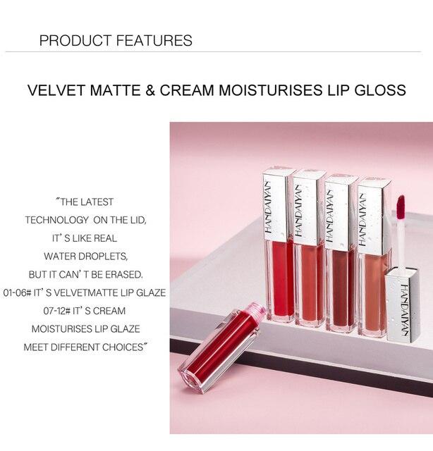 Brillo de labios líquido mate, brillo de labios líquido mate de larga duración, resistente al agua, cosmético de belleza, mantiene 24 horas de maquillaje, brillo de labios maquillaje TSLM1 6
