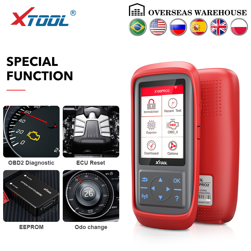 XTOOL X100 Pro OBD2 Auto Key Programmer/Mileage adjustment Including EEPROM Code Reader with Free Update title=