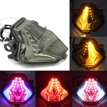 Motorcycle Modified LED Rear Taillight Assembly Turn Signal Brake Light For YAMAHA R25 R3 MT03 MT07 MT-25 FZ-07 Y15ZR