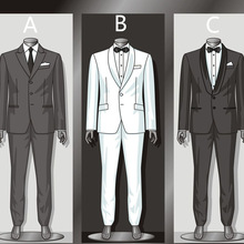 Men Suits Jacket--Pants Wedding-Tailored Casual Formal Business Fit Custom-Color N1 Single-Breasted
