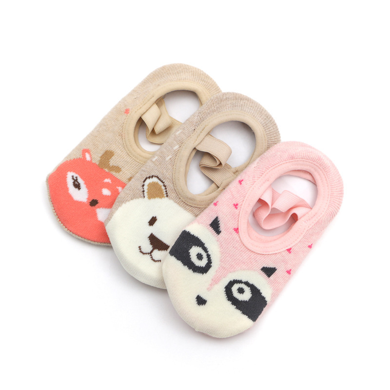 Children Wear Baby Cotton Toddler Socks Shoes Rubber Sole Anti-skid Spring And Summer Newborn Floor Socks