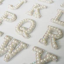 Perles strass lettres de l'alphabet anglais A-Z, Badge à coudre en fer sur Badge 3D fait à la main, pour sac, chapeau, application pour Jeans, bricolage