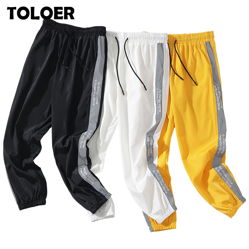 Men Casual Pants Quality Brand Men''s Street Hip Hop Drawstring Trousers Fashion Male Thin Section Comfortable Sweatpants Joggers