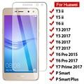 Закаленное стекло 9H для Huawei Y5 Ii Y6 Pro Y3 Y7, защитное стекло Prime для Huawei P Smart Plus, стекло для huawei Y6 Ii Y3 Ii, 2 шт.