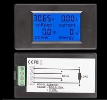DC 20A LCD Combo Đồng Hồ Đo Điện Áp Hiện Tại KWh Watt Pin Xe Pannel Điện Màn Hình