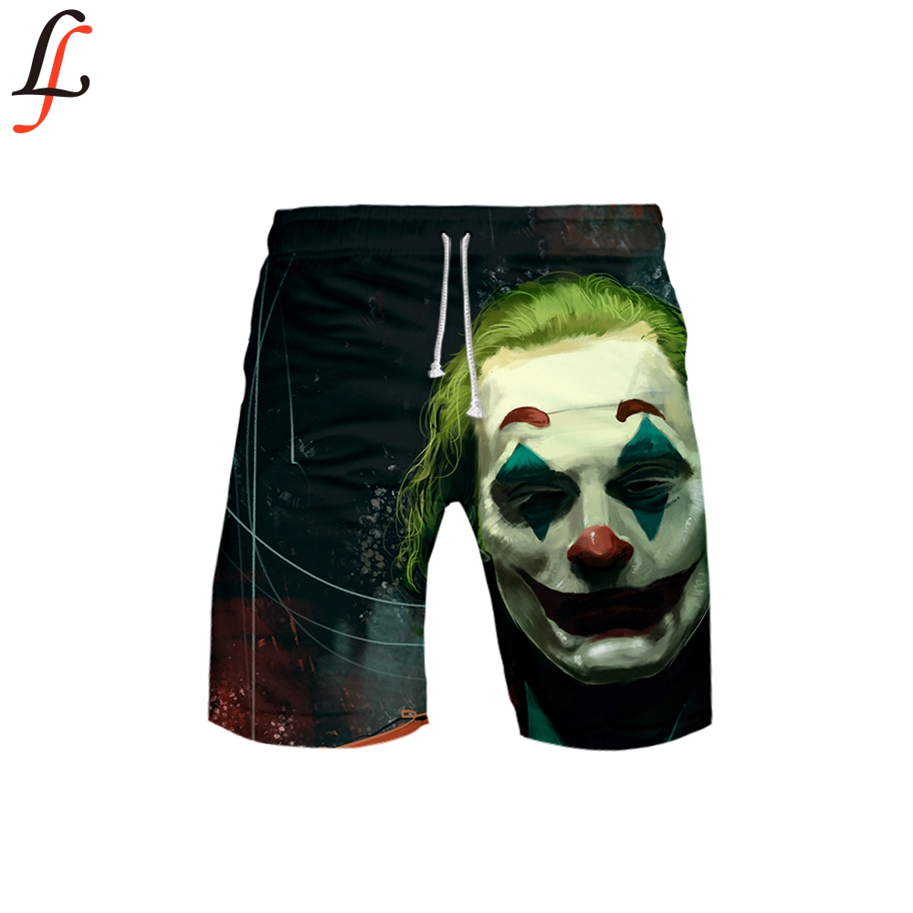 2019 3D Joker Pocket Quick Dry Swimming Shorts For Men Swimwear Man Swimsuit Swim Trunks Summer Bathing Beach Wear Surf