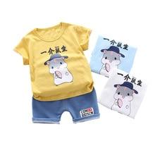 цена на New Summer Baby Boy Clothes Children Girl Cotton Cartoon T Shirt Shorts 2Pcs/set Toddler Fashion Casual Clothing Kids Tracksuits