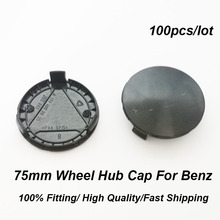100pcs/set Wheel Rim Center Cap Auto Hub Badge Covers 75mm 7.5cm ABS 3 PINS black base 13 type Emblem